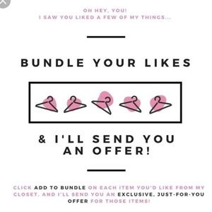 Bundle your likes and I'll send you an offer